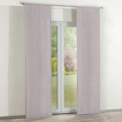 Dekoria Zasłony panelowe 2 szt., bordowe serduszka na białym tle, 60 x 260 cm, Wyprzedaż do -30%