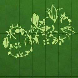 kwiaty 31 szablon malarski