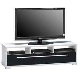 Stolik pod telewizor 40x140 cm, biały, czarny, mdf, 76453547 marki Maja-möbel