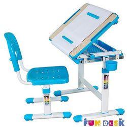 Fundesk Bambino blue - biurko dziecięce regulowane + lampka led gratis! - szkolna promocja!