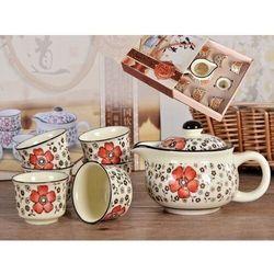 Zestaw do herbaty czajnik + 6 czarek