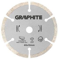 Tarcza do cięcia GRAPHITE 55H550 85 x 10 mm segmentowa do minipilarki z kategorii Tarcze do cięcia