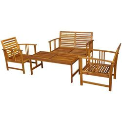 vidaXL Zestaw mebli ogrodowych, drewno akacjowe, 4 szt. - produkt z kategorii- Zestawy ogrodowe