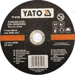 Tarcza do cięcia stali nierdzewnej 180x2.5x22 mm / YT-6106 / YATO - ZYSKAJ RABAT 30 ZŁ (5906083961069)