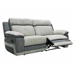 3-osobowa sofa talca z funkcją relaksu, z mikrofibry – kolor jasnoszary lub antracytowy marki Vente-unique