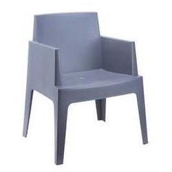 Designerski fotel do ogrodu Box szary