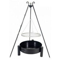 Grill ogrodowy FARMCOOK ruszt stal nierdzewna 50 cm+ palenisko ogrodowe PAN 36 60 cm (5902280590996)