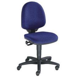 Topstar Standardowe krzesło obrotowe, bez poręczy, oparcie 450 mm, materiał niebieski, s