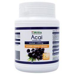 Ekstrakt z jagód Acai (Myvita) 1000mg 250 kaps. - produkt farmaceutyczny
