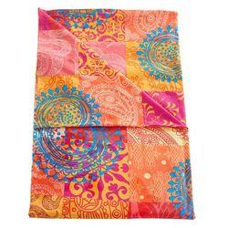 Narzuta z patchworkowym nadrukiem kolorowy marki Bonprix