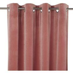 Zasłona GoodHome Valgreta 140 x 260 cm różowa
