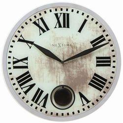 NeXtime - zegar ścienny Romana 43 cm - biały