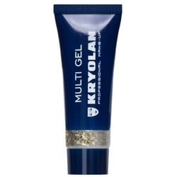 Kryolan MULTI GEL GLITTER (LIGHT GOLD) Brokat w żelu do ciała i włosów - LIGHT GOLD (2300) ()