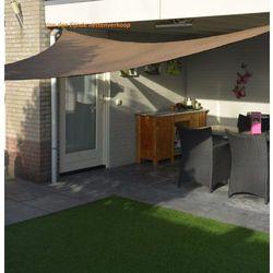 Żagiel ogrodowy przeciwsłoneczny trójkąt 3,6 x 3,6 x 3,6 m brązowy dobrebaseny marki Pure garden & living