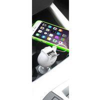 PURO Car Fast Charger - Ładowarka samochodowa Apple ze zwijanym kablem 2,4 A złącze Lightning MFi (biały)