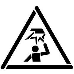 Szabloneria Szablon do malowania znak ostrzeżenie przed uderzeniem się w głowę gw020 - 17x20 cm