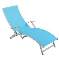 Łóżko plażowe Soleil 4-pozycyjne niebieskie PATIO (5904134481054)