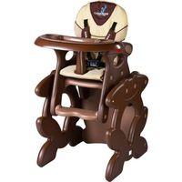 Krzesło do karmienia CARETERO ze stoliczkiem Primus brązowy + DARMOWY TRANSPORT!