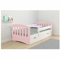 Łóżko dla dziewczynki z szufladą pinokio 2x mix 80x180 - pudrowy róż marki Producent: elior
