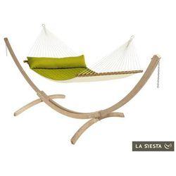 Zestaw hamakowy: hamak z drążkiem alabama ze stojakiem canoa, zielony nqr14cns201 marki La siesta
