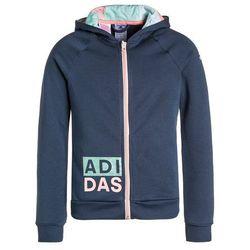adidas Performance Kurtka sportowa mineral blue/ray pink - produkt z kategorii- kurtki dla dzieci