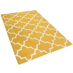 Dywan żółty wełniany 160x230 cm silvan marki Beliani