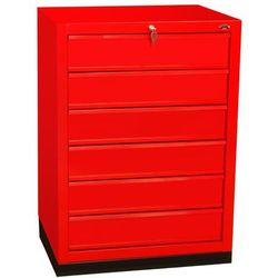 Szafka narzędziowa z 6 równymi szufladami na cokole N-1-12-02, N-1-12-02