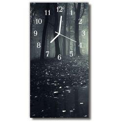 Zegar Szklany Pionowy Natura Las drzewa mrok czarny