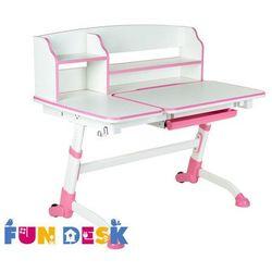 Amare ii pink - ergonomiczne, regulowane biurko dziecięce z nadstawką - złap rabat: kod70 marki Fundesk