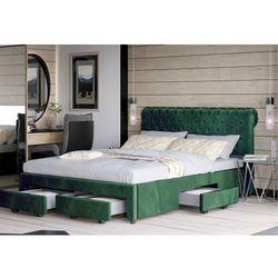 Łóżko z materacem tapicerowane 140x200 1217d welur #64 marki Meblemwm