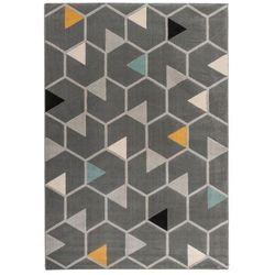 Dywan Capri 120 x 170 cm hexagon szary