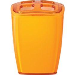 Wenko Pojemnik na szczoteczki NEON, pomarańczowy, 7x6,5x10 cm