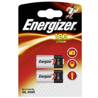 2 x bateria foto litowa Energizer CR123 (7638900168495)