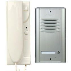 "Eura-tech Domofon ""cyfral"" zestaw 1-lokatorski (c-1, ramka, zasilacz, unifon mac x1) aluminium"