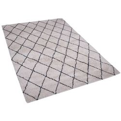 Beliani Dywan biało-czarny 160x230 cm midyat