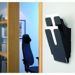 FLEXIPLUS A4 2 pionowe pojemniki na dokumenty, czarne, Durable