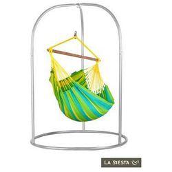 La siesta Zestaw hamakowy: fotel hamakowy sonrisa ze stojakiem romano, zielono-żółty snc14roa16