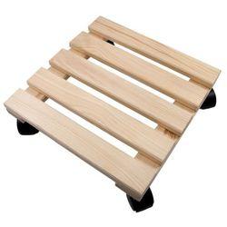 Podstawka Natur Garden drewniana kwadratowa mała, HFP0500