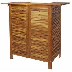 Drewniany barowy stolik ogrodowy - doen marki Elior