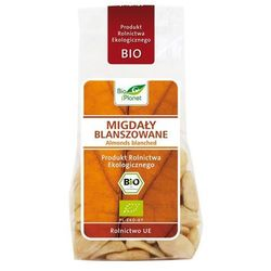 Migdały blanszowane bio 100 g - bio planet od producenta Bio planet - seria brązowa (orzechy i pestki)