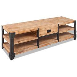 vidaXL Szafka pod tv z drewna akacjowego 140x40x45 cm