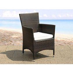 Polirattanowe krzesło z poduchą ogród taras weranda - italy marki Beliani