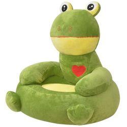 Vidaxl  fotel dla dzieci żaba, pluszowy, zielony (8718476010202)