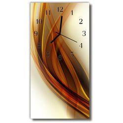 Zegar Szklany Pionowy Sztuka Grafika beżowy, kolor beżowy