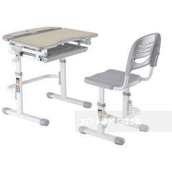 Sorriso grey - ergonomiczne, regulowane biurko dziecięce + krzesełko marki Fundesk