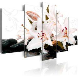 Artgeist Obraz - kamienie zen i lilie