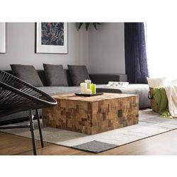 Stolik kawowy drewniany kolorowe elementy GAMBO (4260602375937)