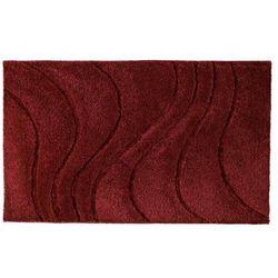 Ridder La ola dywanik łazienkowy 60x90 cm poliester, czerwony 729316 (4006956729398)