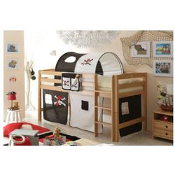 Ticaa kindermöbel Ticaa łóżko piętrowe timmy r buk, naturalny - pirat czarny/biały, kategoria: łóżeczka i kołyski