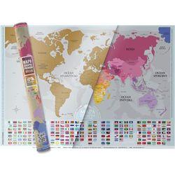 Mapa Zdrapka Świat Premium FLAGI wersja w języku polskim, map_swiat_premium#1